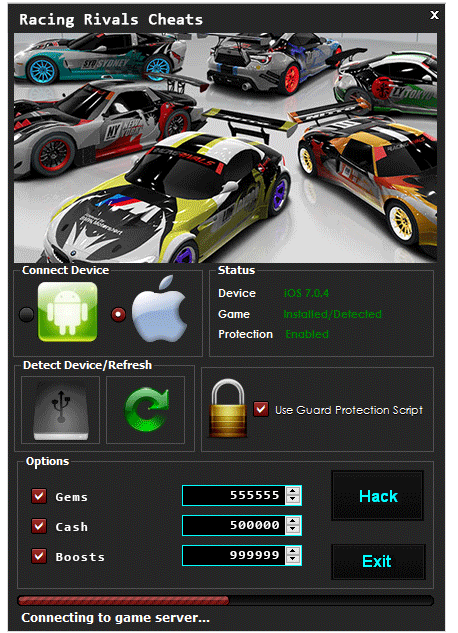 Racing Rivals Cheats
