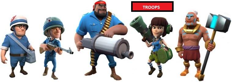 Boom Beach Troops