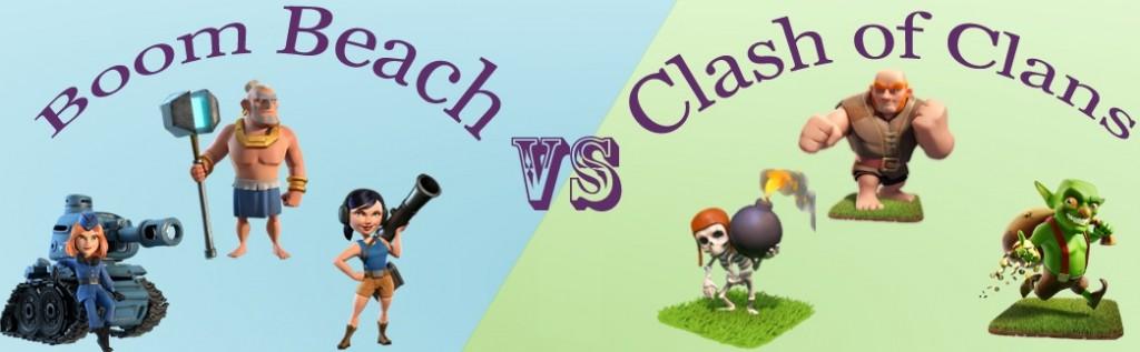 Boom Beach VS Clash of Clans