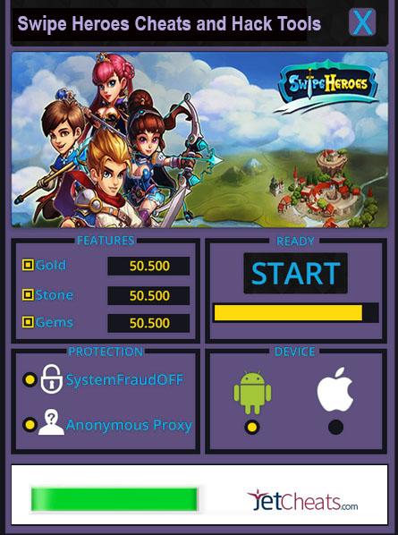 Swipe Heroes Cheat Tools
