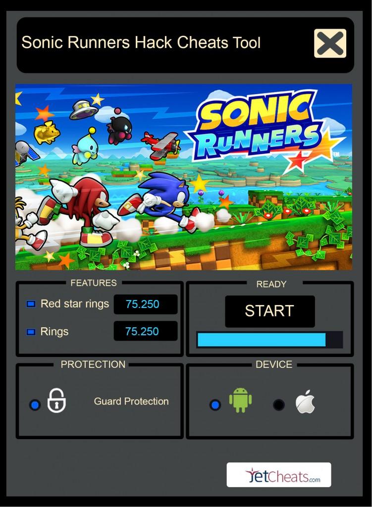 Sonic Runners Cheats Tool